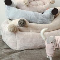 Louisdog Furry Pompom Boom Bed