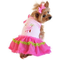 Flamingo and Palm Tank Dog Dress