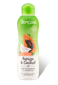 Tropiclean Papaya & Coconut Pet Shampoo & Conditioner