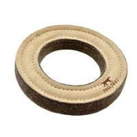 Natural Leather & Wool Ring Toy