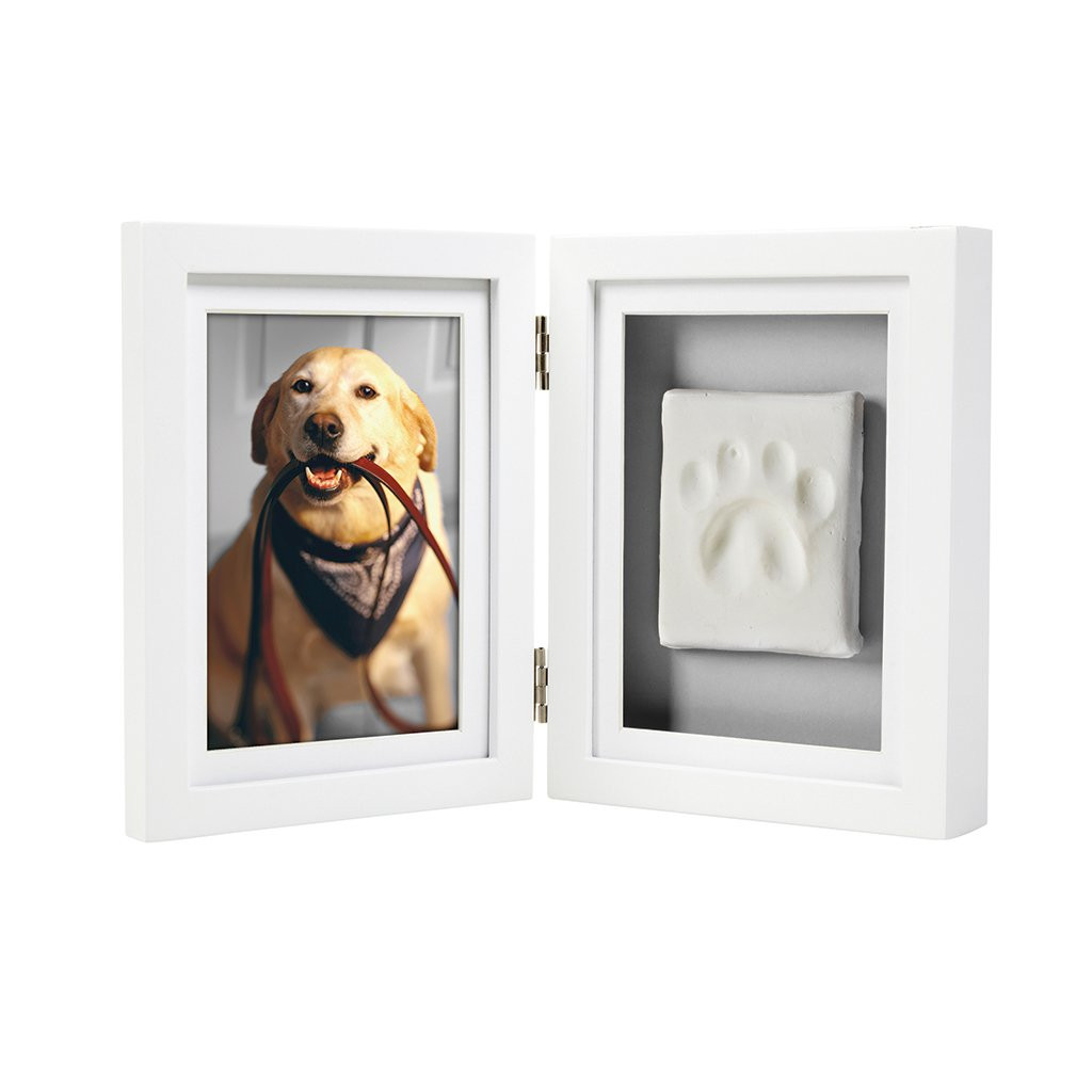 Pawprints White Desktop Frame