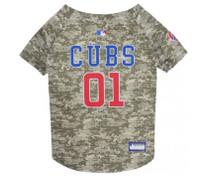 Chicago Cubs Camo Dog Jersey