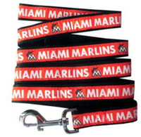 Miami Marlins Ribbon Dog Leash