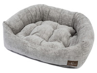 Crushed Velvet Napper Dog Bed