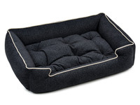 Printed Plush Velour Sleeper Dog Bed