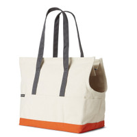 Canvas Pet Tote - Natural & Orange