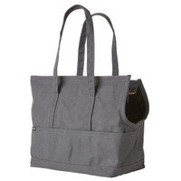 Canvas Pet Tote - Dark Grey