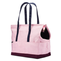 Canvas Pet Tote - Rose & Burgundy