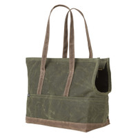 Waxed Canvas Pet Tote - Olive & Oak