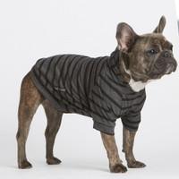 Lightweight Bamboo Knit Hoodie - Grey Stripe