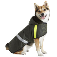 Reflective Waxed Cape with Fleece Lining - Olive & Multi