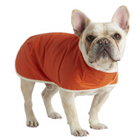 Waxed Canvas Jacket with Fleece Lining - Orange