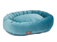 Plush Velour Donut Dog Bed