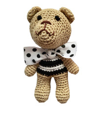Chewnel Black Organic Cotton Bear Toy