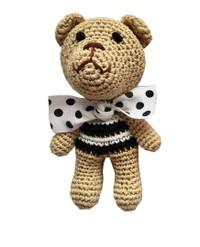 Chewnel Black Organic Cotton Bear Toy