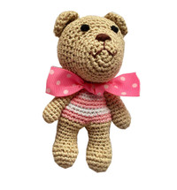 Chewnel Pink Organic Cotton Bear Toy