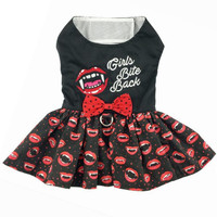 Girls Bite Back Halloween Dog Harness Dress