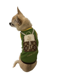 Chewy Vuiton Olive Backpack Tank