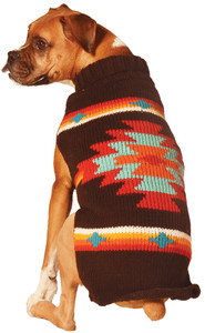Brown Burst Dog Sweater