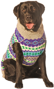 Purple Fairisle Dog Sweater