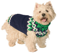 Green Alps Dog Sweater