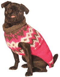 Hot Pink Alps Dog Sweater