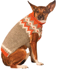 Orange Alps Dog Sweater
