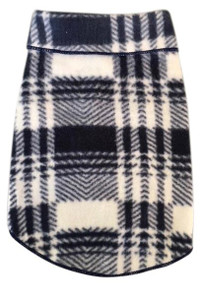 Herringbone Plaid Fleece Pullover