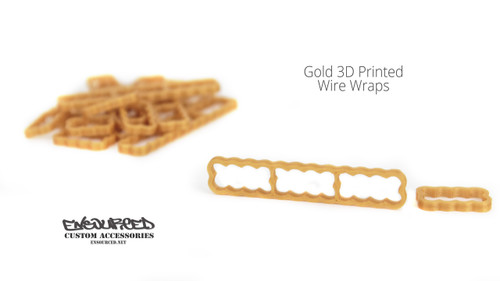 Gold 3D Printed Wire Wrap