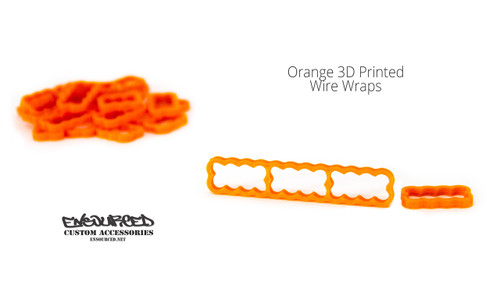 Orange 3D Printed Wire Wrap