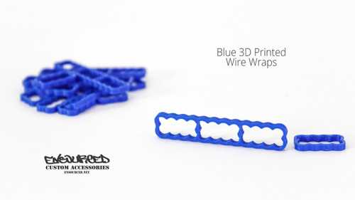Blue 3D Printed Wire Wrap