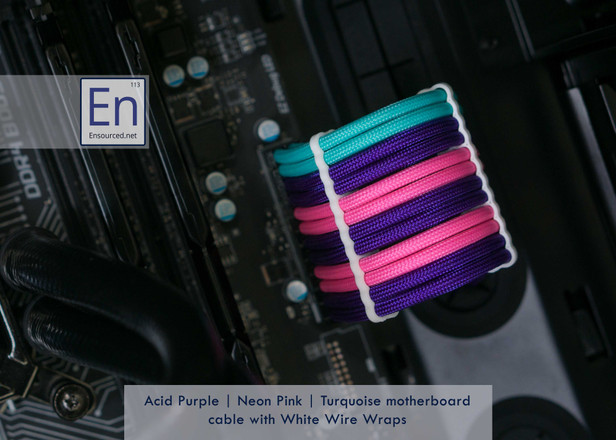 Acid Purple | Neon Pink | Turquoise color combo with White Wire Wraps