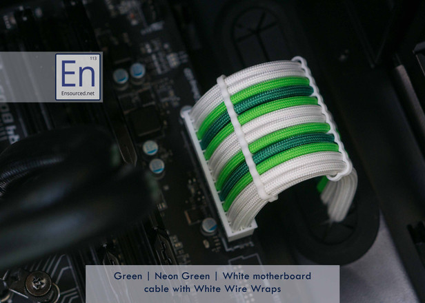 Green | Neon Green | White color combo with White Wire Wraps