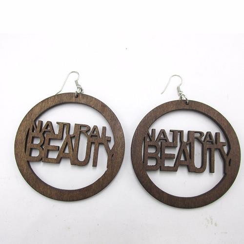 Natural Beauty Wood Earrings