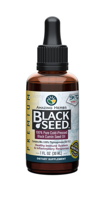 Amazing Herbs Black Seed Oil: THERAPEUTIC GRADE, 100% Pure Cold-Pressed Black Seed Oil