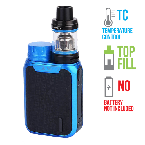 The all new Vaporesso Swag kit is a great choice for those looking for a small vape mod or for those looking for a small yet powerful vape device.  All you need is a fresh 18650 battery and your favorite e liquid to get vaping!