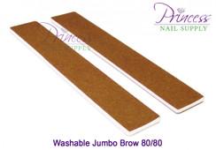 Princess Nail Files, 50 per pack - Washable Jumbo Brow - Grit options