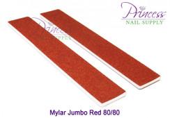Princess Nail Files, 50 per pack - Mylar Jumbo Red, Grit: 80/80(#10331)
