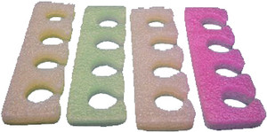 Toe Separators, Multi-Color, 100 pair (TS4)