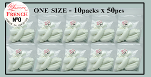 Lamour French Tip One Size - 10 Packs (50 per pack). Size #0