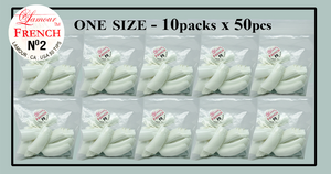 Lamour French Tip One Size - 10 Packs (50 per pack). Size #2
