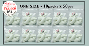 Lamour French Tip One Size - 10 Packs (50 per pack). Size #4