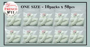Lamour French Tip One Size - 10 Packs (50 per pack). Size #10