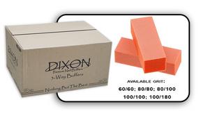 3 Way Buffer block Orange-White Grit 60/60 Case 500pcs