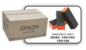 3 Way Buffer block Orange-Black Grit 80/80 Case 500pcs