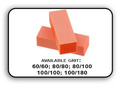 3 Way Buffer block Orange-White Grit 100/180 Pack of 20pcs