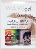 WaveGel Matching S/O Gel & Nail Lacquer - BEIGE N BOUJIE .5oz W175