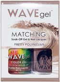 WaveGel Matching S/O Gel & Nail Lacquer - PRETTY POLYNESIAN .5oz W178