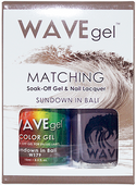 WaveGel Matching S/O Gel & Nail Lacquer - SUNDOWN IN BALI .5oz W179