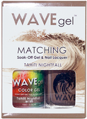 WaveGel Matching S/O Gel & Nail Lacquer - TAHITI NIGHTFALL .5oz W180